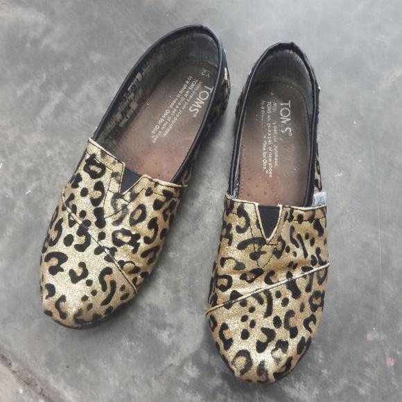 Toms Shoes   Toms Kids Glitter Leopard